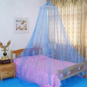 Girl Bed Mosquito Netting Mesh Canopy Princess Round Dome Bedding Mesh Net W