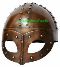 Viking Mask Plated Helmet With Liner Strap Medieval Replica Steel Viking Helmet