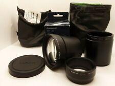 Panasonic Lumix DMW-LT55 Tele Conversion Lens 1.7 DMW-LA2 DMW-LA5 Adaptors Case