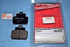 2 plaquettes de frein arrière Brembo 07061 Piaggio MP3 125 250 X8 125 200 250