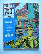 Magazine (très bel état) - Les cahiers de la bande dessinée 75 (spécial Espagne)