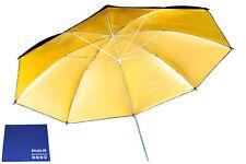 "Phot-R 33"" Black & Gold Studio Reflector Collapsible Umbrella Chamois Cloth"