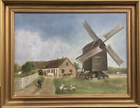 Oil Painting from 1892 for Hansen Farm Child Tierewindmühle Denmark