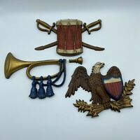 Lot of 3 Sexton USA #576 Vintage Cast Metal American Eagle Wall Hanging Plaque
