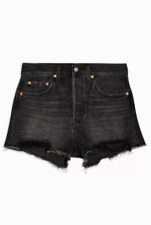Levi's 501 Original Shorts High Rise Black BNWT Size 28