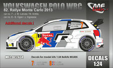 DECALS ADDITIONNEL 1/24 POLO WRC  #7 OGIER / LATVALA - MONTE CARLO 2013 - DC2434