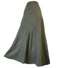 CHEROKEE CORDUROY SKIRT MAXI FLARED BOHEMIAN GREY BOHO CHIC AUTUMN WINTER UK 16