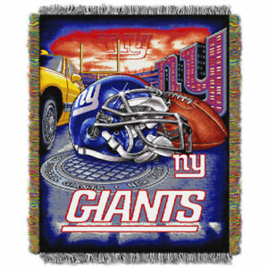 New York Giants NFL Tapestry Throw Woven Blanket Wall Hanging Washable Polyester