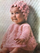FCb98 - Crochet Pattern for a Baby's 4-ply Angel Top & Hat