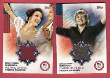 MERYL DAVIS & CHARLIE WHITE WORN RELIC CARD 2014 USA OLYMPICS ICE SKATING GOLD