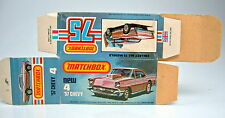 "Matchbox Superfast 04D '57 Chevy top leere ""L"" Box mit ""New"" perfekt"