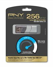 Pny 256gb Turbo 3.0 Usb 3.0 Flash Drive - 256 Gb - Capless (p-fd256tbop-ge)