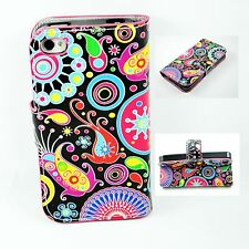 Lovely Flower Skin Wallet Leather Protective Cover Case For Apple iPhone 4 4G 4S