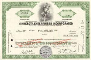 Minnesota Enterprises > MEI now Pepsi stock certificate