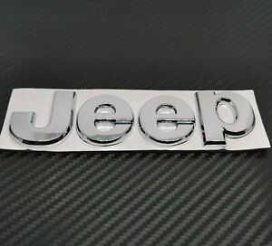 JEEP METAL CHROME BADGE CHEROKEE WRANGLER LIBERTY PATRIOT GRAND CHEROKEE