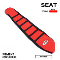 Pro Ribbed Red Gripper Soft Seat Cover For Honda CRF250R CRF450R CRF250X CRF450X