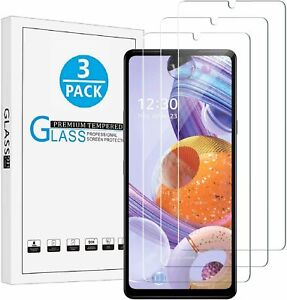 3 Pack For LG Stylo 6 HD Clear Premium Tempered Glass Screen Protector Cover