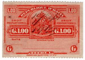 (I.B) Haiti Revenue : Droit Proportionnel G1.00