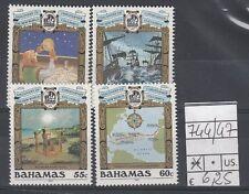 Bahamas  1991 serie anniversario scoperta dell'America 744-47 MNH