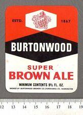 Vintage UK Beer Label - Burtonwood (Forshaw's) Brewery - Super Brown Ale (d)
