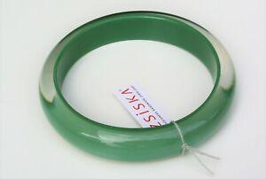 ZSISKA NEW Colourful Statement beautiful resin bangle khaki green, size L