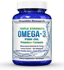 Fish Oil Pills - Pharmaceutical Quality - Triple Strength Omega 3