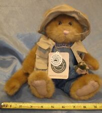 Retired BOYDS Bears Plush Kitty Cat Dorchester Catsworth with Artie Fishing Frog