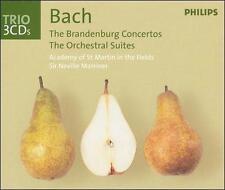Bach: Brandenburg Concertos; Orchestral Suites (CD, Jun-2002, 3 Discs, Philips)