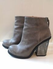 Jeffrey Campbell Grey Leather Boot UK7