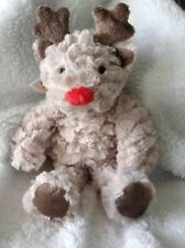 F&F Reindeer Soft Plush Baby Boys/Girls Christmas Comforter Toy ~ Discontinued
