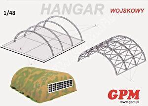Military Hangar 1:48 scale  Model Kit   (LASERCUT SET)  PREPAINTED