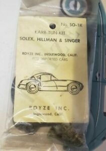 NOS Royze SO-1K Carburetor Kit for Solex Hillman and Singer