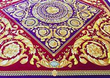GIANNI VERSACE velvet fabric panel Barocco print size 55' square