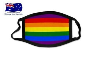 Unisex Gay Lesbian Pride Ice Silk Face Mask Rainbow Stripes Digital Print Outdoo