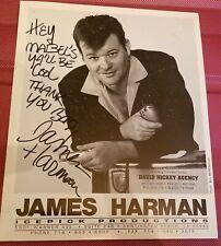 AUTOGRAPHED PHOTO OF JAMES HARMAN