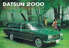 Nissan Datsun 2000 Estate 1968-69 UK Market Brochure Cedric Station Wagon Van