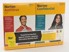 Norton AntiVirus 2007 Confidential Twin Pack Lot Sealed F11