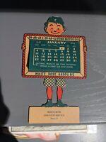 Original 1942  EN-AR-CO Penn Motor Oil  - White Rose Gasoline Sign Calendar