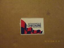 CHL IHL Indianapolis Checkers Vintage Defunct 21/4 Inch Team Logo Hockey Sticker