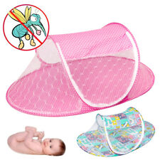 Fashion Portable Foldable Baby Kids Infant Bed Dot Zipper Mosquito Net Tent
