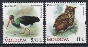 Moldova 2021 Europa CEPT Birds 2 MNH stamps