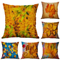 18inch Maple Leaf Cotton Linen Pillow Case Sofa Throw Cushion Cover Home Decor
