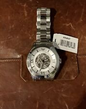 Emporio Armani AR4647 Meccanico Automatic Silver Stainless Steel Mens Watch