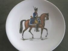 Porcelaine Lafarge Limoges Teller Dec. Gendarme à cheval 1er Empire