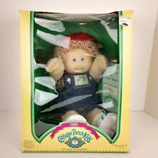 Vtg. 1985 Cabbage Patch Kids Doll with Papers Original Box Light Hair Blue Eye