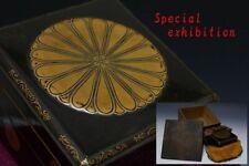 Japan Antique Edo Gold Makie box emperor sword koshirae Yoroi samurai Busho 菊花紋