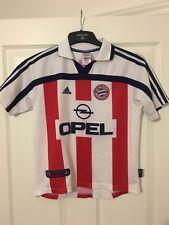 2000/2001 Bayern Munich Lejos Camiseta De Fútbol Grandes Chicos Rara Vintage Adidas Opel