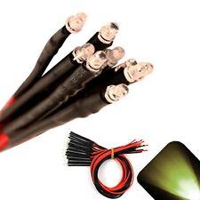 10 x Pre wired 9v 3mm Warm Soft White LEDs Prewired 9 volt DC LED Light 8v 7v