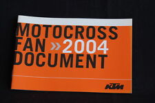 Booklett KTM Motocross Team 2004 (HW)