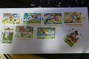 7 Vietnam Asia Football postage stamps philately philatelic kiloware postal